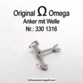 Omega 330-1316, Anker mit Welle, Omega 330 1316, Anker für Hammerautomatik Cal. 330 331 332 333 340 341 342 343 344 350 351 352 353 354 355