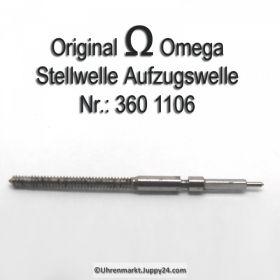 Omega Aufzugswelle Stellwelle Omega 360-1106 Cal. 28 28SC 360 361 370 371 372