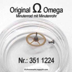 Omega Minutenrad mit Minutenrohr 351-1224 Omega 351 1224 4,33 Cal. 351 352 354