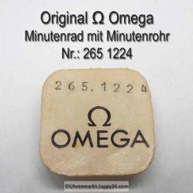 Omega Minutenrad mit Minutenrohr 265-1224 Omega 265 1224 5,61mm Cal. 265, 266, 267 30T3