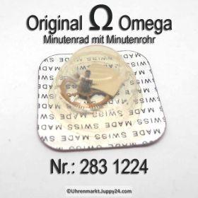 Omega Minutenrad mit Minutenrohr, NOS 5,50mm Part Nr. Omega 283-1224 Cal.  283