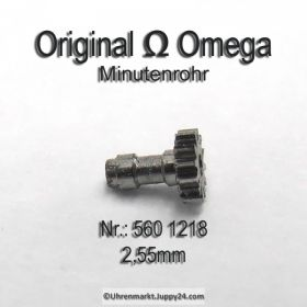 Omega Minutenrohr H2 Höhe 2,55 mm Part Nr. Omega 560-1218 Cal. 550 551 552 560 561 561