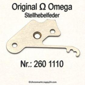 Omega Stellhebelfeder Part Nr. Omega 260-1110 Cal. 30, 30T1, 30T2, 30T2PC, 30T2RG, 260, 261, 262, 265, 266, 280, 281, 283