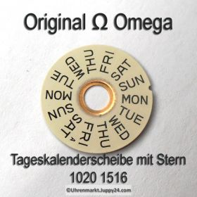 Omega 1020-1516 Omega Tageskalenderscheibe mit Stern, Omega 1020 1516A, englisch Cal. 1020 1021 1022