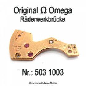 Omega Räderwerkbrücke signiert Part Nr. Omega 503-1003 Cal. 503