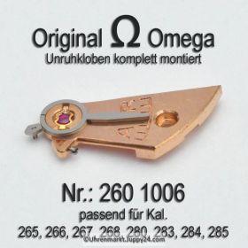 Omega 260-1006 Omega Unruhkloben komplett mit Incabloc Cal. 30T2PC, 260, 261, 265, 266, 267, 280, 283, 284, 285