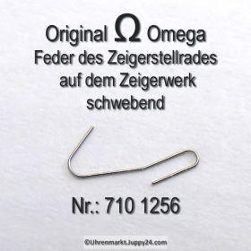 Omega 710 1256 Omega Feder des Zeigerstellrades auf dem Zeigerwerk schwebend Cal. 710 711 712
