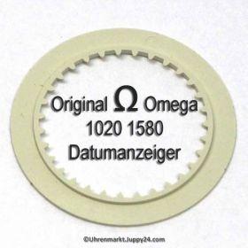 Omega 1020-1580 Omega Datumanzeiger Weiß mit schwarzen Ziffern Omega 1020 1580 Cal. 1020 1021 1022 (NR 01)