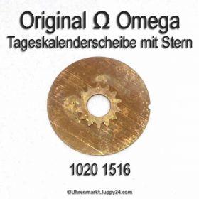 Omega 1020-1516 Omega Tageskalenderscheibe mit Stern Omega 1020 1516 (03) Cal. 1020 1021 1022