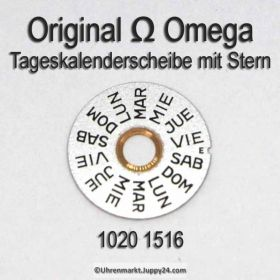 Omega 1020-1516 Omega Tageskalenderscheibe mit Stern, Omega 1020 1516 (01) Cal. 1020 1021 1022