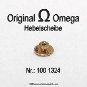 Omega 100-1324 Hebelscheibe mit Hebelstein, Omega 100 1324 Cal 100 260 261 262 265 266 267 268 269 280 284 285 286