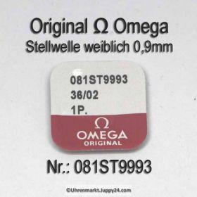 Omega 081ST9993 Stellwelle weiblich, Gewinde 0,9mm Omega Stem female