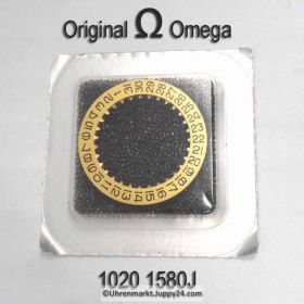 Omega 1020-1580J Datumanzeiger, goldfarben mit schwarzen Ziffern Omega 1020 1580 Cal. 1020 1021 1022 (NR 03)