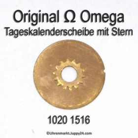 Omega 1020-1516 Omega Tageskalenderscheibe mit Stern Omega 1020 1516 englisch (05) Cal. 1020 1021 1022