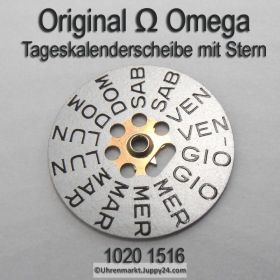 Omega 750-1516 Omega Tageskalenderscheibe mit Stern, Omega 750 1516 italienisch Cal. 750 751 752