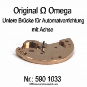 Omega 590 1033 Untere Brücke für Automatvorrichtung mit Achse, Omega 551-1033 Cal. 590 591