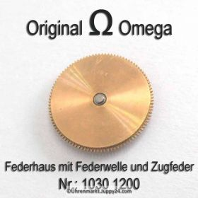 Omega 1030-1200 Federhaus komplett mit Federwelle und Zugfeder, Omega 1030-1200 Cal. 1030 1035
