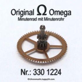 Omega 330 1224 Omega Minutenrad mit Minutenrohr 330-1224 Omega 351 1224 4,22mm Cal. 28.10RA 30.10RA 330 340