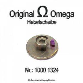 Omega Hebelscheibe 1000 1324 Omega 1000-1324 Hebelscheibe mit Hebelstein Cal 1000, 1001, 1002, 1010, 1011, 1012, 1020, 1021, 1022, 1030, 1035
