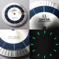 Wunderschönes Omega Dynamic Zifferblatt mit lumineszierenden Indizes (OMEGA Dynamic dial) NOS!