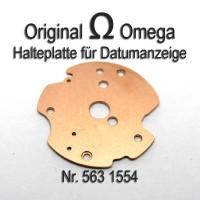 Omega  Halteplatte für Datumsanzeiger mit Schrauben Cal. 563, 564, 565, 750, 751, 752 Part Nr. 1554 + Nr. 2050