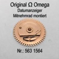 Omega Datumsanzeiger Mitnehmrad montiert NOS Part Nr. Omega 1564 Cal. 563 564 565 750 751 752