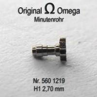 Omega - Minutenrohr H1 Höhe 2,7 mm Cal. 563, 564, 565 Part Nr. 1219