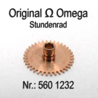 Omega - Stundenrad H 1, Höhe 1,83 mm Cal. 560, 561, 562, 563, 564, 565, 610, 611, 613 Part Nr. 1232