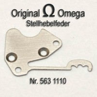 Omega - Stellhebelfeder mit Schrauben Cal. 563, 564, 565, 613, 750, 751, 752 Part Nr. 1110 + Nr. 2624