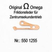Omega - Friktionsfeder für Zentrumsekundentrieb mit Schraube  Cal. 550, 551, 552, 560, 561, 562, 563, 564, 565, 750, 751, 752 Part Nr. 1255