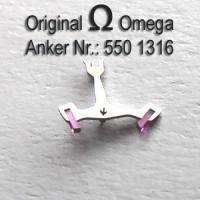 Omega Anker mit Welle Part Nr. Omega 550-1316 Cal. 550 551 552 560 561 562 563 564 565 750 751 752