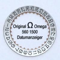 Omega Datumsanzeiger (Datumsscheibe - Datumsring) gewölbt Part Nr.: 1500 Cal. 560 561 562 563 564 565 610 611 613