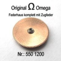 Omega Federhaus komplett mit Federwelle und Zugfeder Part Nr.: 1200 Cal. 550 551 552 560 561 562 563 564 565 750 751 752