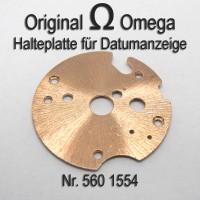 Omega  Halteplatte für Datumsanzeiger Part Nr. 1554 Cal. 560 561 562 610 611