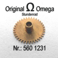 Omega - Stundenrad Höhe 1,68 mm Part Nr. 1231 Cal. 560 561 562 563 564 565 610 611 613