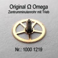 Omega – Zentrumminutenrohr, Zentrum Minutenrohr mit Trieb Part Nr. 1219 Cal. 1000 1001 1002