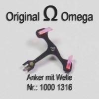 Omega Anker mit Welle Part Nr. Omega 1000-1316 Cal. 1000 1001 1002 1010 1011 1012 1020 1021 1022 1030 1035