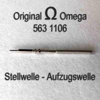 Omega Ersatzteil Neuware - Aufzugswelle Stellwelle Part Nr. 1106 Cal. 563 564 565 750 751 752 Ranft W3236