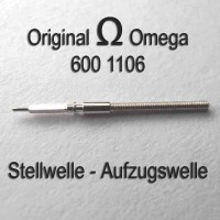 Omega Ersatzteil, Neuwars - Aufzugswelle Stellwelle Part Nr. 1106 Cal. 600 601 602 610 611 Ranft W2794 / W3136