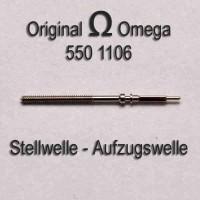 Omega Uhrenersatzteil Neuware - Aufzugswelle Stellwelle Part Nr. 1106 Cal. 550 551 552 560 561 562