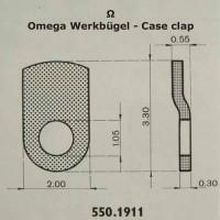Omega Uhrenersatzteil Neuware – Werkbügel , Werkbefestigungsbügel. Part Nr. 1911