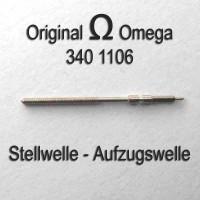 Omega Uhrenersatzteil Neuware - Aufzugswelle Stellwelle Part Nr. 1106 Cal. 340 341 342 343 344 350 351 352 353 354 355