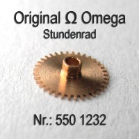 Omega Stundenrad H 1 Höhe 1,33 mm Part Nr. Omega 1232 Cal. 550 551 552 600 601 602