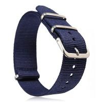 Natoband – Uhrenarmband Nylon – Nato Armband, Navyblau dunkel, Militärband 18 mm