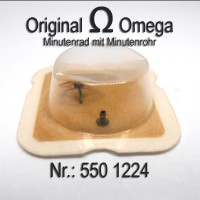 Omega Minutenrad mit Minutenrohr Part Nr. Omega 550-1224 Cal. 550 551 552 600 601 602