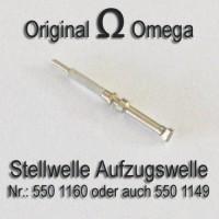 Omega  Aufzugswelle Stellwelle Part Nr. Omega 550-1160 - Omega 550-1149 Cal. 550 551 552 560 561 562