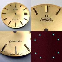 Nr15 Omega Seamaster Automatic Zifferblatt goldfarben - schimmernd (Omega Dial) NOS.