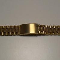 Uhrband – Uhrenarmband NR.1 Edelstahl vergoldet 20mm mit Faltschließe NEU