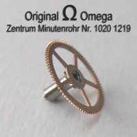 Omega Zentrum Minutenrohr H1 montiert Part Nr. Omega 1219 Cal. 1020 1021 1022