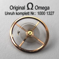 Omega Unruh Spirale Welle komplett montiert Part Nr. Omega 1000-1327 Cal. 1000 1001 1002